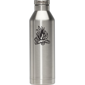 MIZU V8 Bidon with Stainless Steel Cap 800ml srebrny